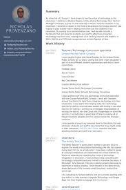 Teacher/ Technology Curriculum Specialist Resume samples