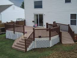 handicap ramps for homes deck with ramp and steps too busy with the railing and trellis