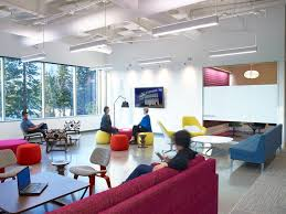 Office Lounge Interior Design with Hello Soft Seating Furniture by Chesser  Schacht Design
