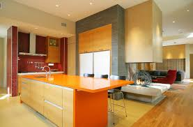 Interior Design Kitchens 2014 Interior Attractive Wall Mounted Red Wooden Cabinet And Black