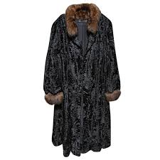 russian broadtail sable vintage fur coat by revillon for