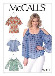 Top Patterns Impressive McCall's 48 Misses' Gathered ColdShoulder Tops And Tunic