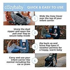 premium infant car seat cover charcoal