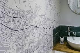 custom map wallpaper bespoke map wall