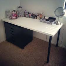 white table top ikea. Photo 2 Of 7 Exceptional Black Vanity Makeup White Table Top Ikea Coffee  Glass Legs . D