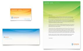 Business Card Template Publisher Computer It Services Business Card Letterhead Template Word