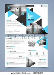 Two Page Brochure Template Two Page Brochure Template Or Flyer Layout For Business Reports And