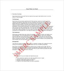 car wash business plan pdf car wash business plan template 14 free word excel pdf format