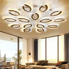 2019 modern led ceiling chandelier lights for living room bedroom round art indoor acrylic ceiling chandelier lamp fixtures from cnmall 191 61 dhgate