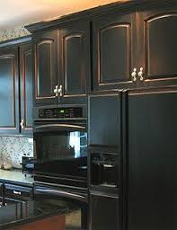 antique black kitchen cabinets. Fine Black Black Antique Distress Cabinets Love This Style Of Inlaid Doors With Crown  Moulding At In Antique Kitchen Cabinets
