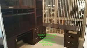 assembled office desks. Sauder Office Desk With Hutch Assembled By Flatpack Services Www.flatpackservices.com Washington DC Desks