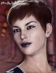 extreme closeup smokey rebel makeup for genesis 3 and 8 female s
