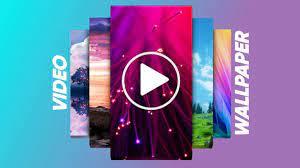 phone using the video wallpaper app