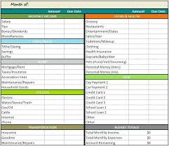 Budget Sheet In Excel Personal Budget Spreadsheet Excel Personal Monthly Budget Template