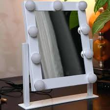 vanity mirror with light bulbs makeup large lighted tabletop cosmetic touch control ikea best led for