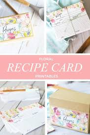 Watercolor Flower Recipe Cards // Free Download! - Within The Grove