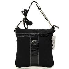 Coach Legacy Swingpack In Signature Medium Black Crossbody BagsB