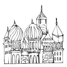 Kleurplaat Moskee Torens Ramadan Eid Ramadan Coloring Pages