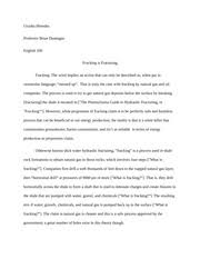 self reflective essay urusha shrestha english prof dunnigan 5 pages fracking essay