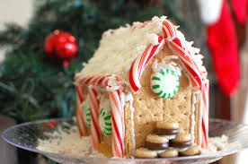 Premade Gingerbread Houses How To Make A Gingerbread House From Graham Crackers The 350
