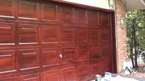 Faux Painting Mahogany Garage Door - YouTube