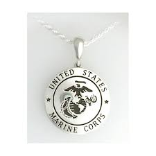 gold marine corps pendant