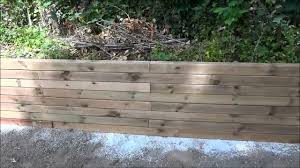 Vapour Barrier To Protect Landscaping Lumber Retaining Wall Youtube