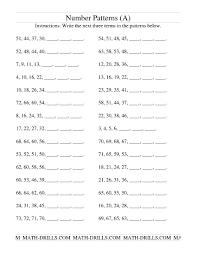 Pattern Worksheet Simple Inspiration Ideas