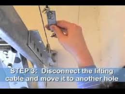 how to fix garage door tension you
