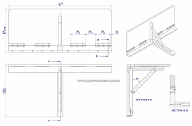 wall mounted drop leaf folding table assembly drawing