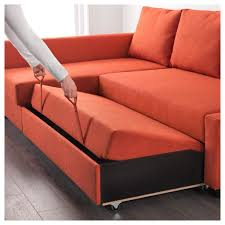 sofa bed with storage. Friheten Corner Sofa Bed With Storage Skiftebo Dark Orange Ikea Regarding Couch