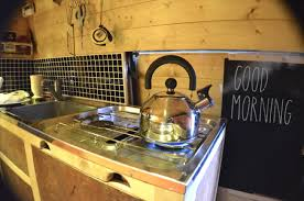 gas hob and kettle in my campervan conversion