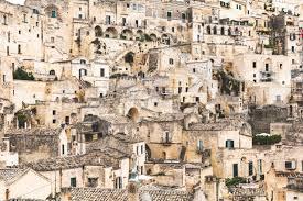Italy, Basilicata, Matera, Townscape and historical cave dwelling, Sassi di  Matera – Stockphoto