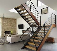 Interior Design, Steel Staircase Design With Wooden: Stunning modern  staircase design pictures