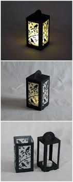 Diy Lantern Lights Lasercut Paper Lantern For Led Tea Light 6x6x11cm