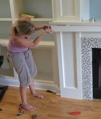 fireplace wall built ins diy