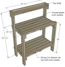 Ana White  Build A Simple Potting Bench  Free And Easy DIY Plans For A Potting Bench