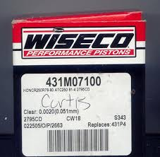 Wiseco Piston Clearance Chart Pilotodyssey Com View Topic Wiseco Pistons Info About