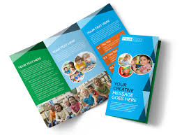 Education Brochure Templates Child Care Early Education Tri Fold Brochure Template