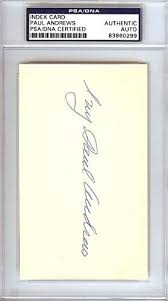 Authentic Autographed Paul Ivy Andrews 3x5 Index Card New York Yankees ~  PSA/DNA Authentication ~ MLB Baseball Cut Signatures at Amazon's Sports  Collectibles Store