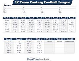 Team League Schedule Template Ideal 7 Team League Schedule Template