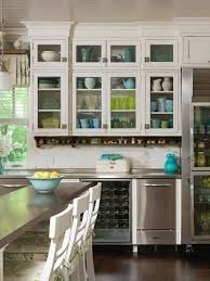 China Cabinet And Glass Display Case For A Bright Kitchen