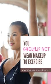 unlike skincare makeup forms a barrier in your skin covering your pores when you are working out your makeup mi with oil and perspiration can congest