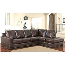 abbyson channing leather sectional brown top grain sofa abbyson leather sectional