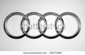 audi logo black and white. almaty kazakhstan february 03 2015 audi logo on the white background black and