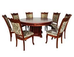 09 round dining set w lazy susan