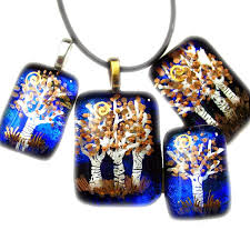 tree of life pendant jewelry fused glass tree trees holly