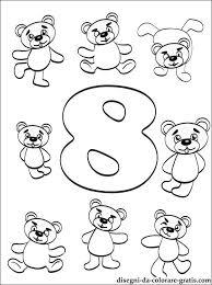 Disegno Di Numero 8 Da Colorare Disegni Da Colorare Gratis