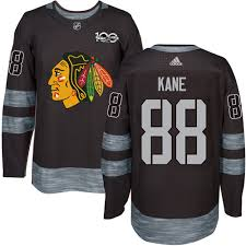 Men's Blackhawks 100th Anniversary Chicago Black Premier 1917-2017 88 Nhl Kane Adidas Patrick Jersey