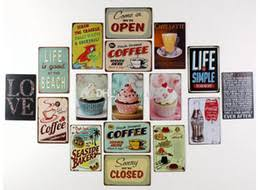 retro kitchen metal wall art